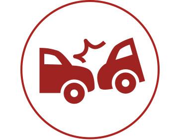 Auto angefahren
