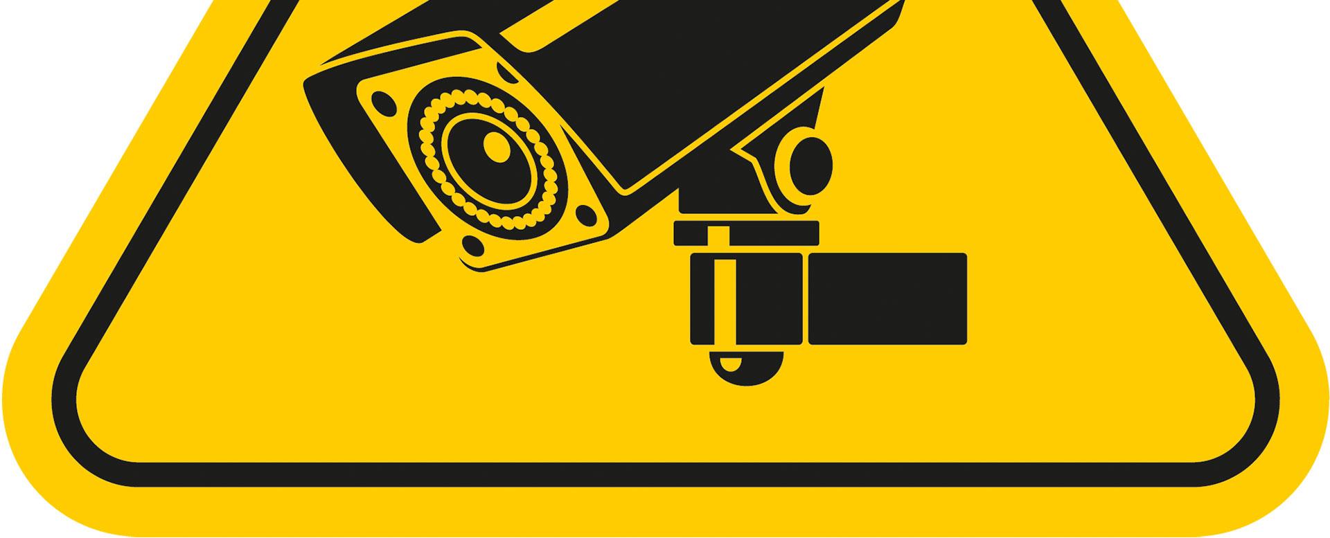 Hinweisschild für Überwachungskamera