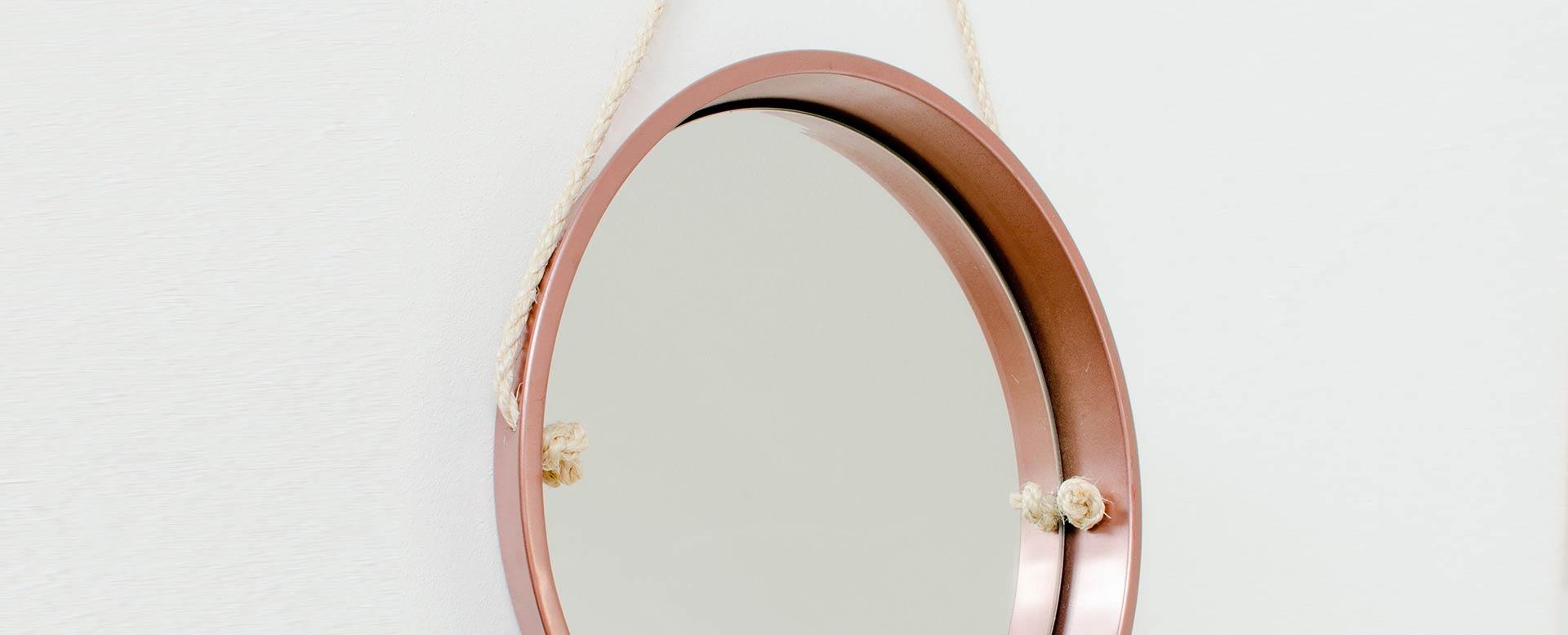 Upccyling - Spiegel aus Tablett