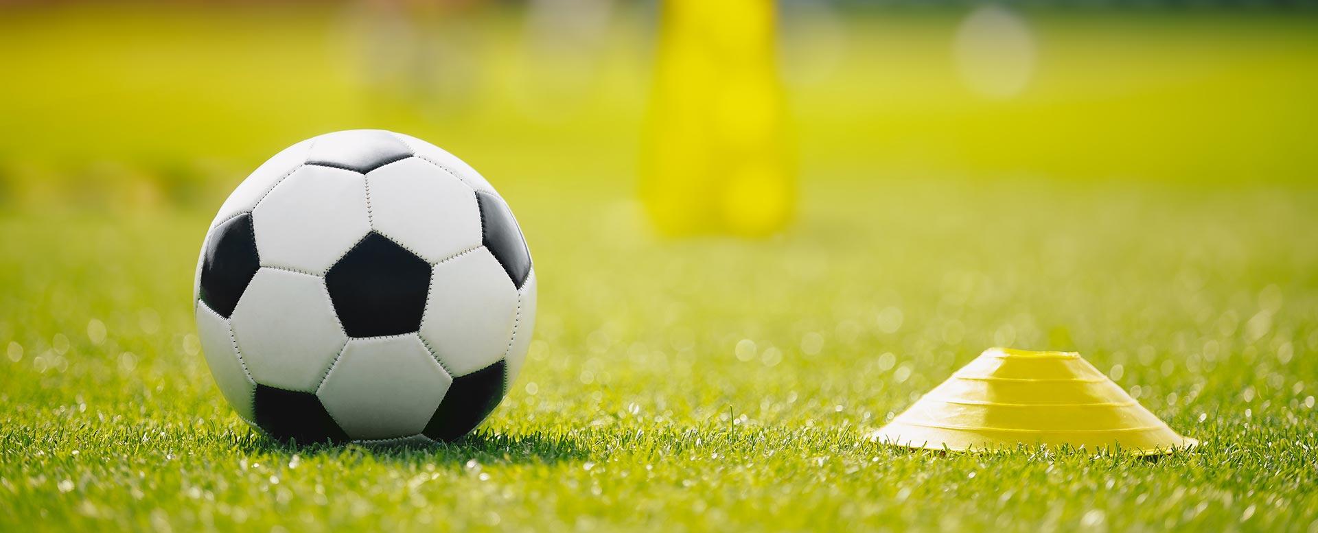 Fußball im Training