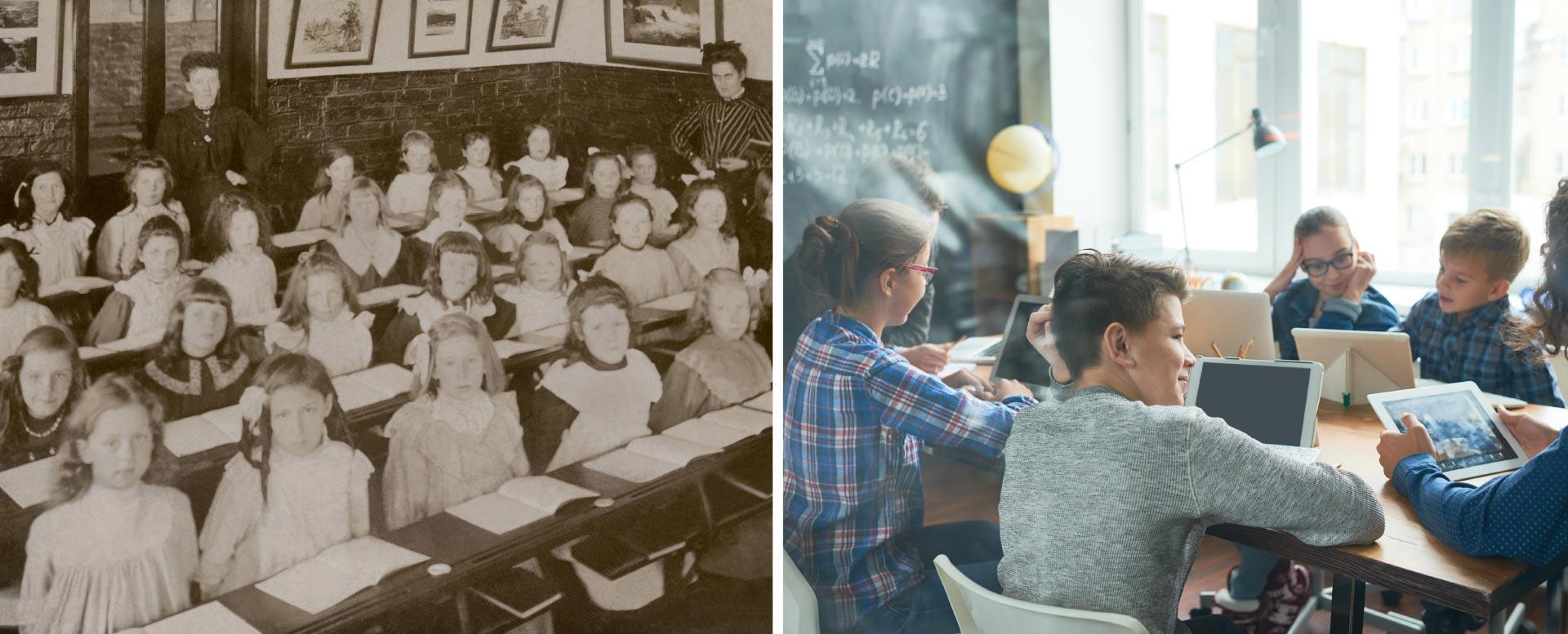 Schule früher und heute: Klassenzimmer