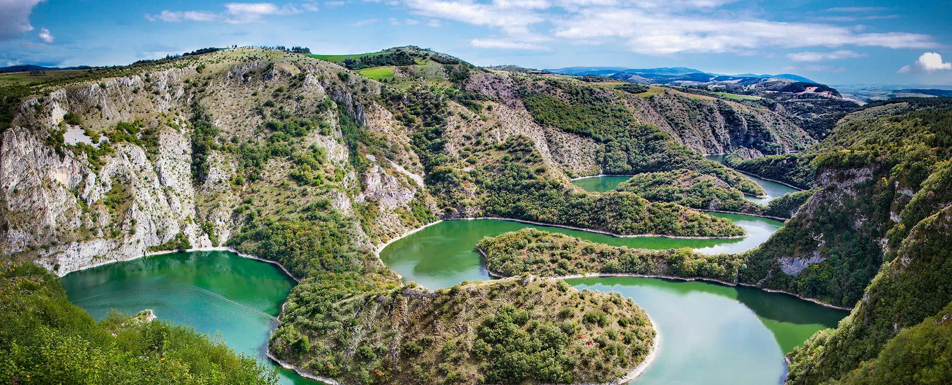 Fluss Uvac in Serbien