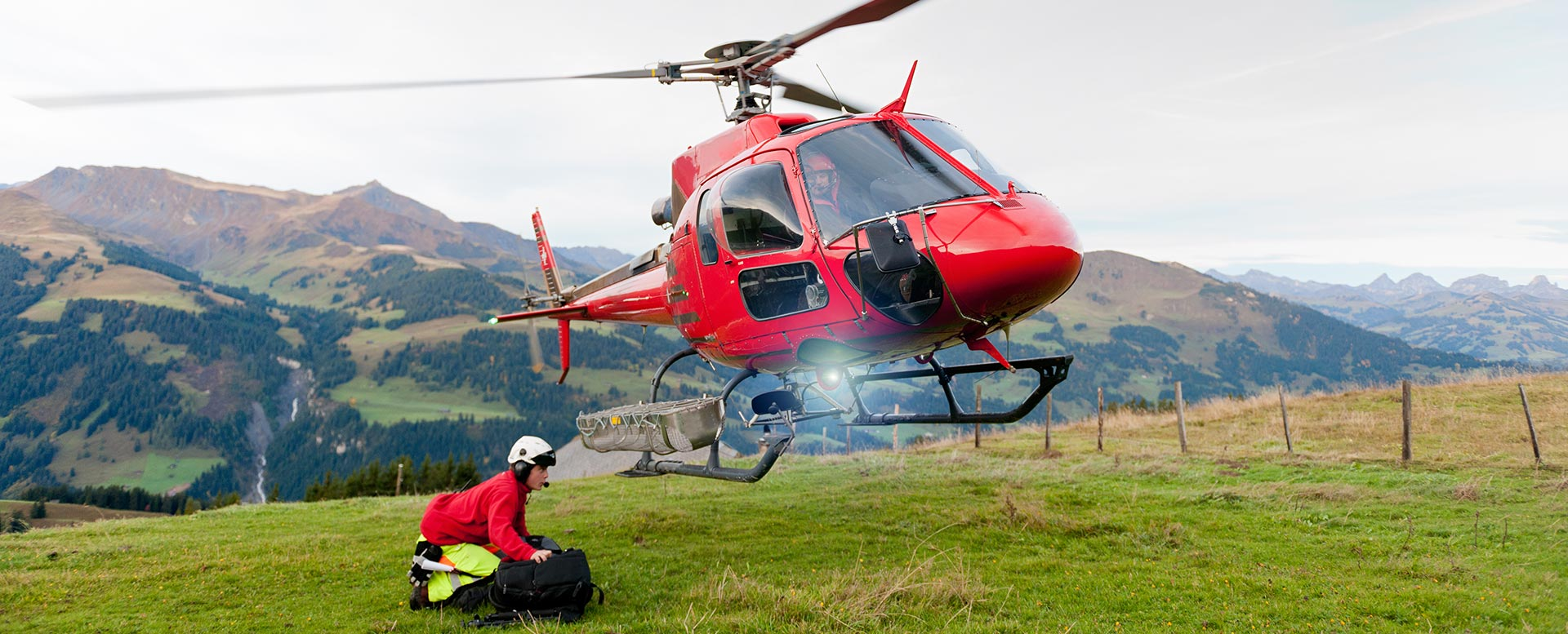 Bergrettung mit Hubschrauber