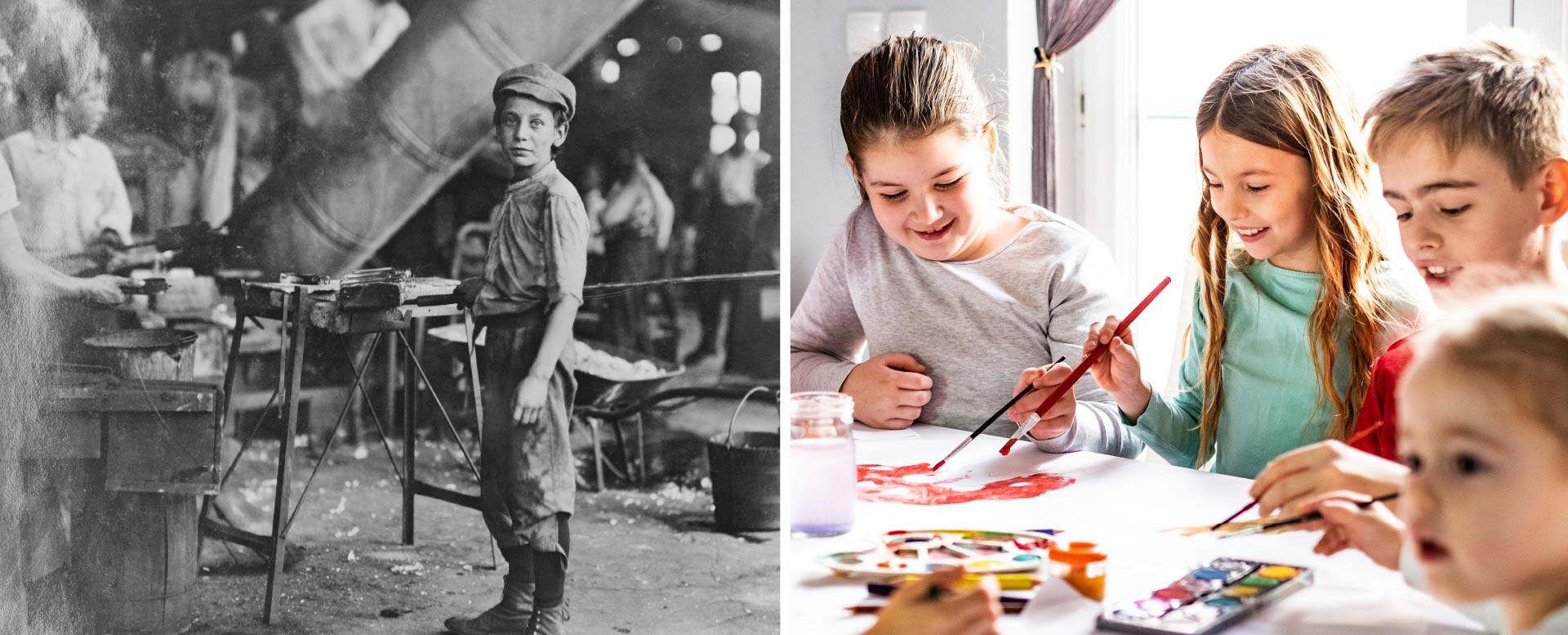 Arbeitskraft und keine Schule: Kinder um 1900