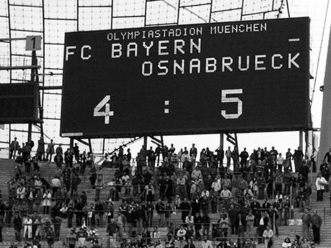 Niederlage des FC Bayern gegen den VfL Osnabrück beim DFB-Pokal 1978