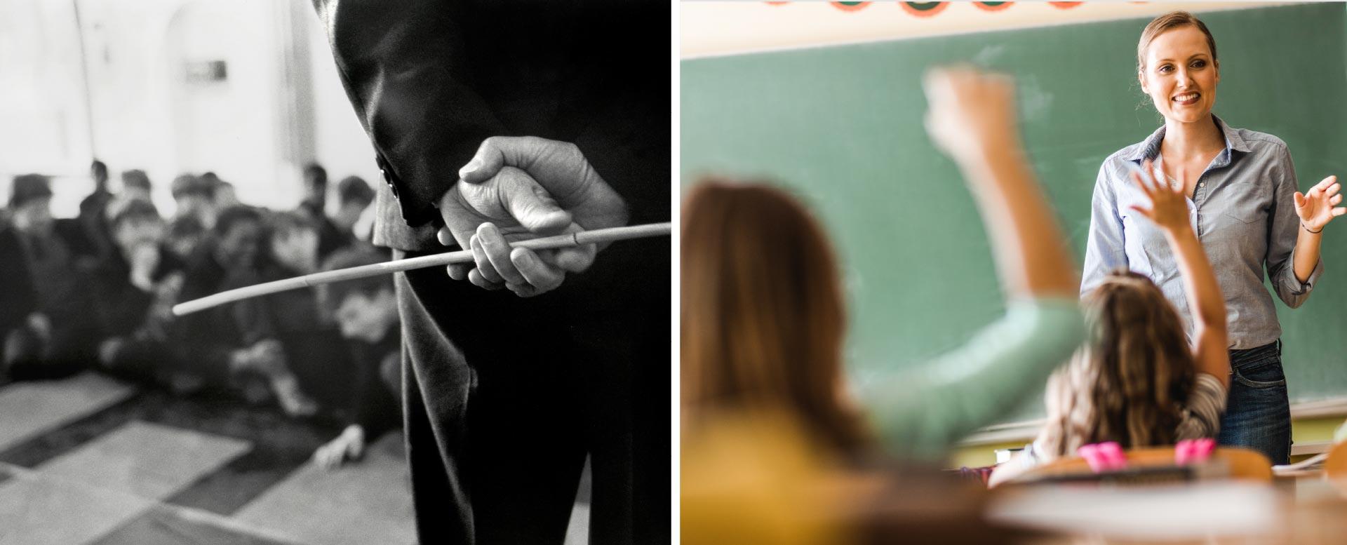 Schule früher: Disziplin und Fleiss
