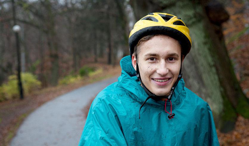 Warme Fahrradbekleidung im Herbst