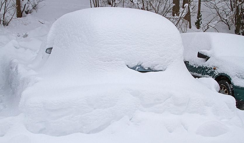 Extremer Schneefall